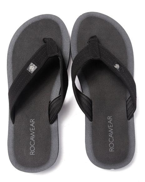 Rocawear - Men Black Rocawear Sandals