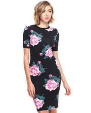 Joyrich - 8bit Floral Bodycon Dress