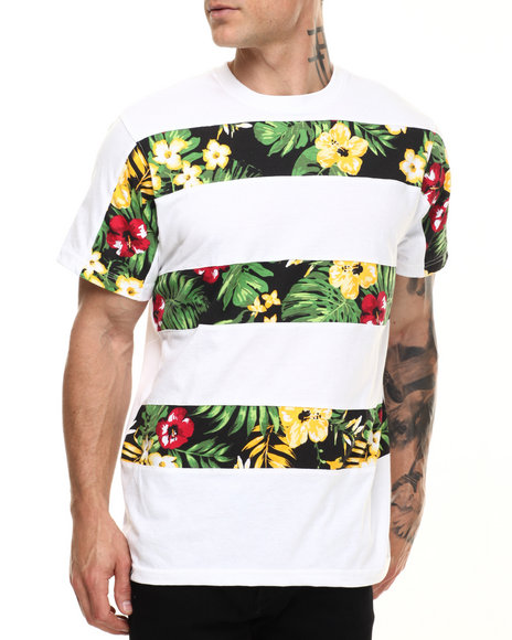 Ur-ID 216814 Akademiks - Men White Pike Cut & Sewn S/S Tee