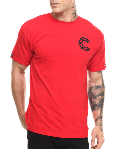 Ur-ID 216842 Crooks & Castles - Men Red Chain Gang T-Shirt