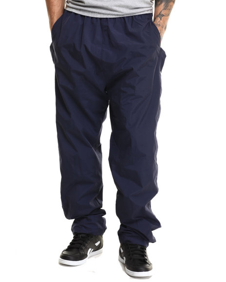 Ur-ID 216819 Basic Essentials - Men Navy Nylon Breakaway Warm - Up Pants