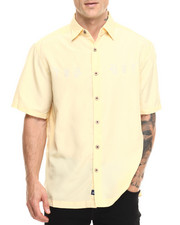 Basic Essentials - Cocktails Anyone S/S Button - Down