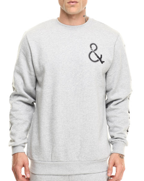 Ur-ID 216855 Crooks & Castles - Men Grey Shooter Knit Sweatshirt