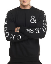 Pullover Sweatshirts - Shooter Knit Sweatshirt