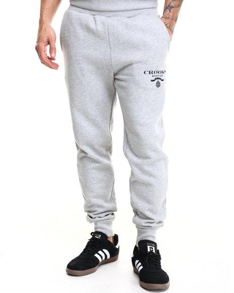 Ur-ID 216854 Crooks & Castles - Men Grey Lampin Knit Sweatpants