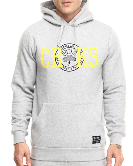 Crooks & Castles - Men Grey Stormrider Hooded Pullover