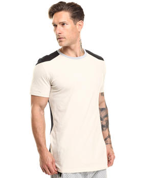 Men - ColorBlock Tee w Mesh Detail