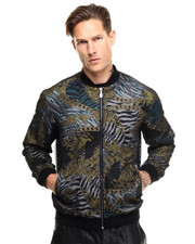 Jackets & Coats - Mesh Overlay Filigree Tiger Chain Jacket