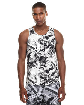 Men - Full Engine Print Tank