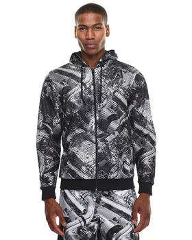 Light Jackets - DBL NET ENGINE Print Zip Hoodie