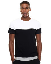 Men - Colorblock Zip Tee