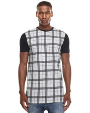 Men - MARLE PLAID Tall Tee