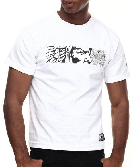 Hustle Gang - Men White Hg Widescreen Tee