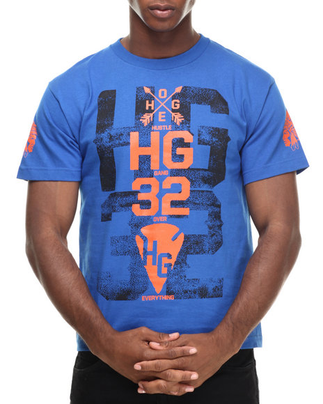 Hustle Gang - Men Blue,Orange Hg32 Stack Tee