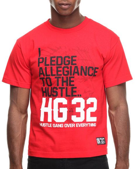 Hustle Gang - Men Red The Pledge Tee