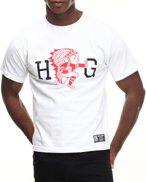Hustle Gang - Men Black,White Runner Tee