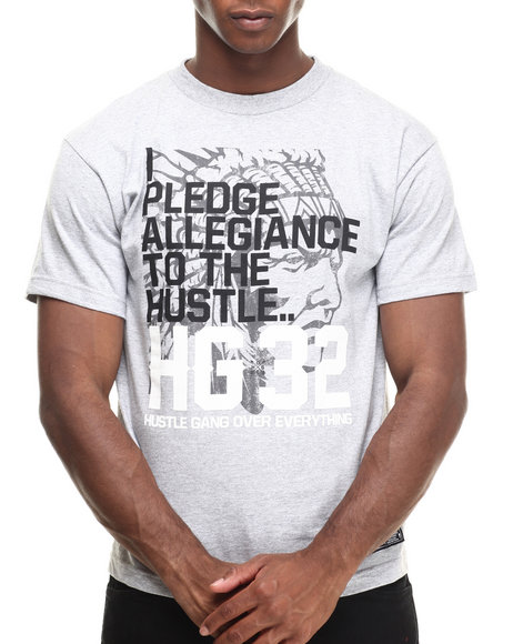 Hustle Gang - Men Grey The Pledge Tee