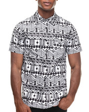 Men - City Aztec Print s/s button down shirt