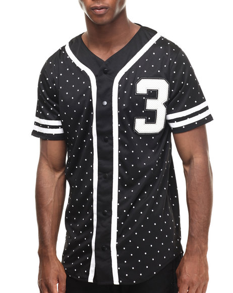Ur-ID 216921 Buyers Picks - Men Black Bandana N Stars Baseball Jersey