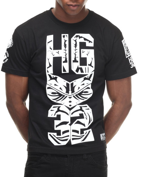 Hustle Gang - Men Black,White Hungergames Tee