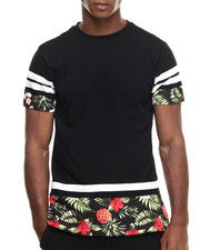 T-Shirts - Tropical print drop s/s tee