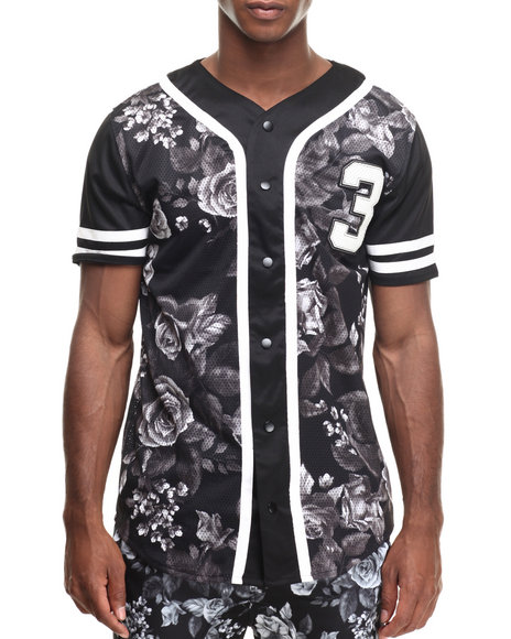 Ur-ID 216882 Buyers Picks - Men Black Tripics Baseball Jersey