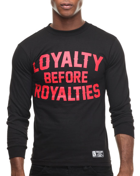 Hustle Gang - Men Black Loyalty L/S Tee