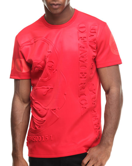 Hudson Nyc - Men Red Stacked Ben S/S Tee