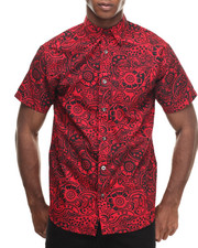 Buyers Picks - Paisley All over print s/s button down shirt