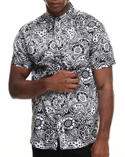 Men - Paisley All over print s/s button down shirt