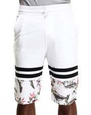 Men - Vintage flower print Drawstring Shorts