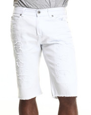 Men - Rip N Tear washed denim shorts