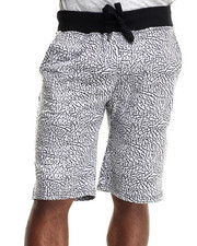 Men - Elephant print Drawstring Shorts