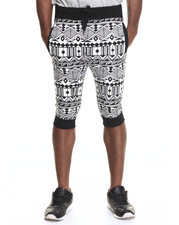 Buyers Picks - Aztec Print Capri Jogger Shorts