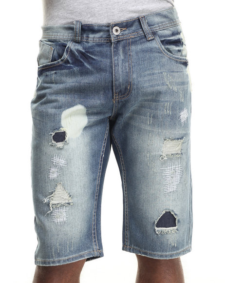 Buyers Picks - Men Medium Wash Smoke Wash Denim Short