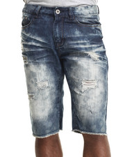 Men - Dk Indigo Wash denim shorts