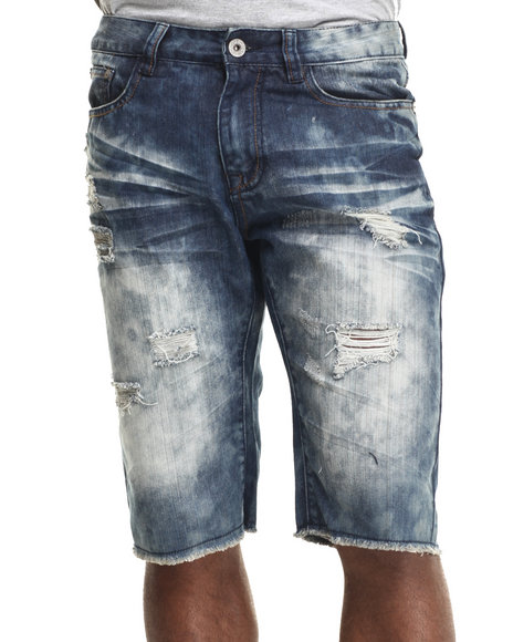 Buyers Picks - Men Dark Wash Dk Indigo Wash Denim Shorts