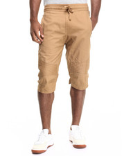 Men - Wax Coated Biker Jogger Short