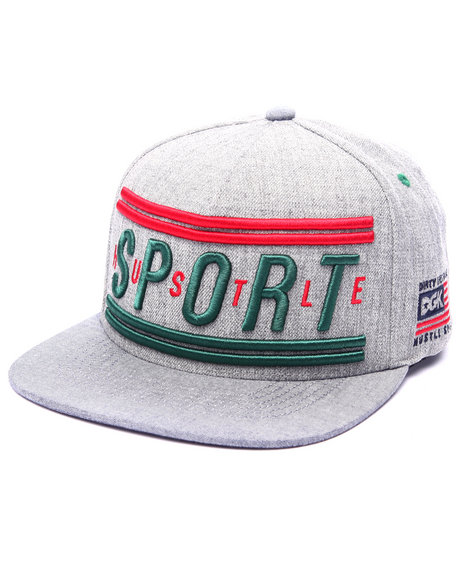 Dgk Men Hustle Sport Snapback Cap Grey