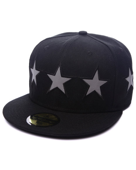 Dnine Reserve - Men Black Crown Of Stars (3M Stars) Strapback