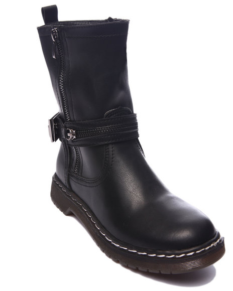 Fashion Lab - Women Black Jenny Biker Boot - $22.99