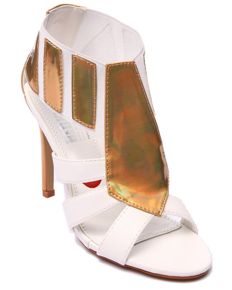 Ur-ID 216991 Fashion Lab - Women White Glitzy Girl Open Toe Pump