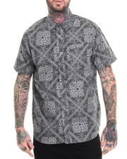 Men - Bandana s/s Print Button down shirt
