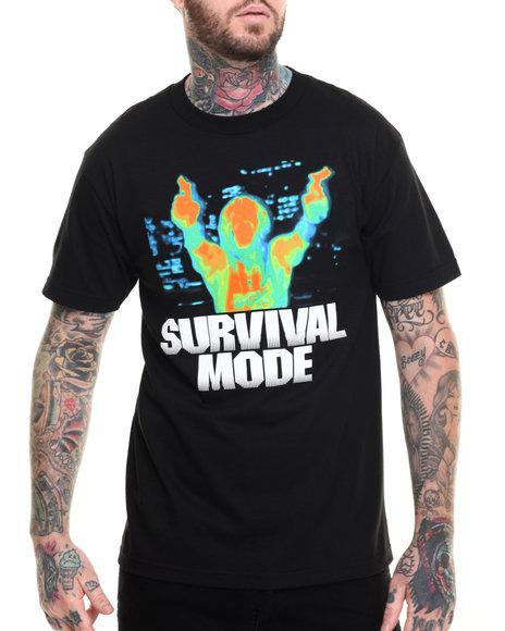 Ur-ID 217002 DGK - Men Black Survival Mode Tee