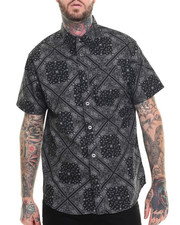 Men - Banadan s/s Print Button down shirt