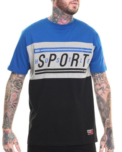 Dgk - Men Blue Hustle Sport Custom Tee