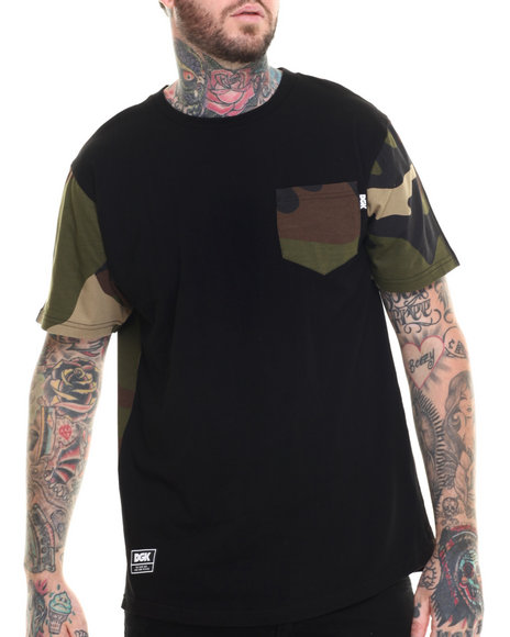 Dgk - Men Black,Camo All Day Camo Pocket Tee