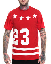 Men - 23 Mesh - Sleeve Star - Print Tee
