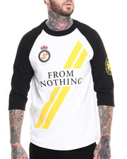 Men - Nothing 3/4 Sleeve Raglan Tee