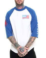 The Skate Shop - Hustle Sport 3/4 Sleeve Raglan Tee